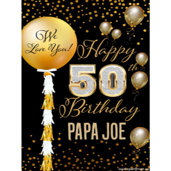 Picture of 50th - LAWN YARD SIGN - 50TH SPARKLING PERSONALIZED
