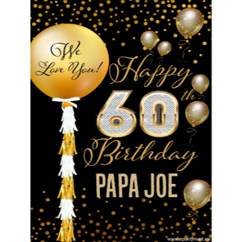 Picture of 60th - LAWN YARD SIGN - 60TH SPARKLING PERSONALIZED