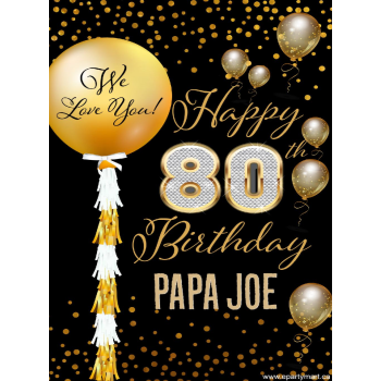 Picture of 80th - LAWN YARD SIGN - 80TH SPARKLING PERSONALIZED
