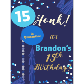 Picture of LAWN YARD SIGN - ANY BIRTHDAY BLUE - PERSONALIZE