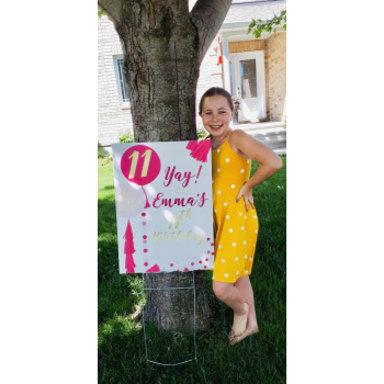 Picture of LAWN YARD SIGN - ANY BIRTHDAY PINK - PERSONALIZE
