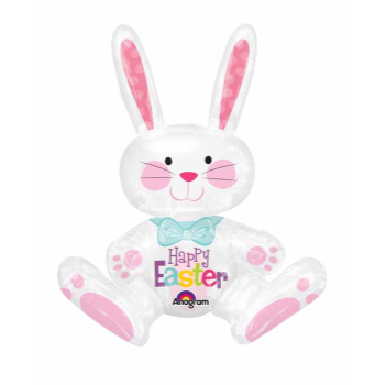 """Picture of 24"""" TABLETOP - SITTING EASTER BUNNY FOIL BALLOON - AIRFILLED"""