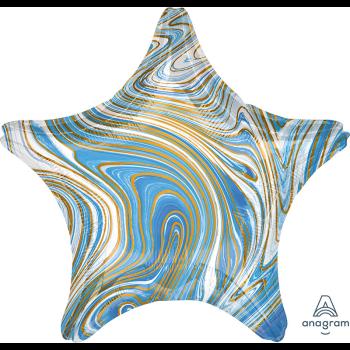 """Image de 18"""" FOIL - BLUE MARBLE STAR"""