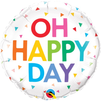 Picture of 18'' FOIL -  OH HAPPY DAY RAINBOW CONFETTI
