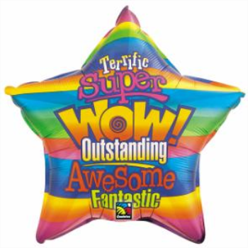 Picture of 20'' FOIL -  WOW STRIPES STAR