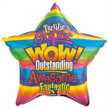 Image de 20'' FOIL -  WOW STRIPES STAR