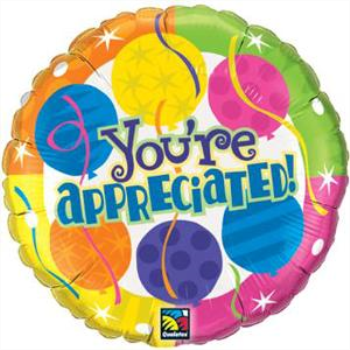 Image de 18'' FOIL -  YOU'RE APPRECIATED