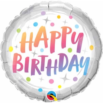 """Picture of 18"""" FOIL - BIRTHDAY RAINBOW DOTS"""