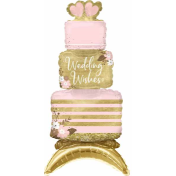 "Picture of 24"" TABLETOP - WEDDING CAKE FOIL BALLOON - AIR FILLED"
