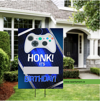 "Picture of LAWN YARD SIGN - ANY BIRTHDAY - GAMER ""WRITE A NAME"""