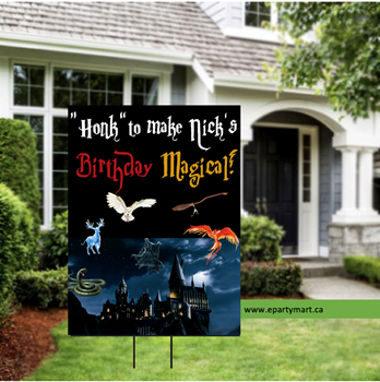 Picture of LAWN YARD SIGN - ANY BIRTHDAY - MAGICAL WISHES (HARRY POTTER INSPIRED) - PERSONALIZED