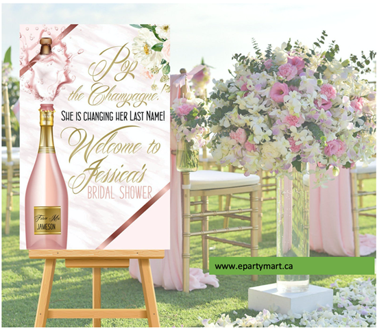 Picture of LAWN YARD SIGN - WEDDING BRIDAL SHOWER - PERSONALIZE