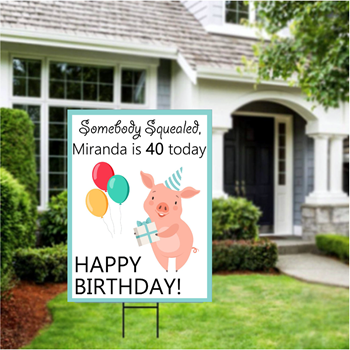 Picture of LAWN YARD SIGN - ANY BIRTHDAY - PERSONALIZE