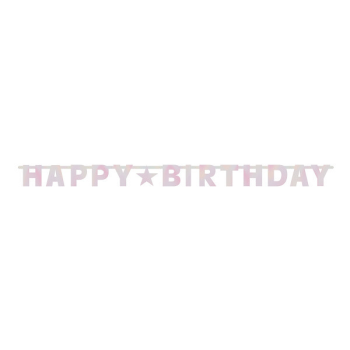 Picture of DECOR - BIRTHDAY PINKS FOIL LETTER BANNER