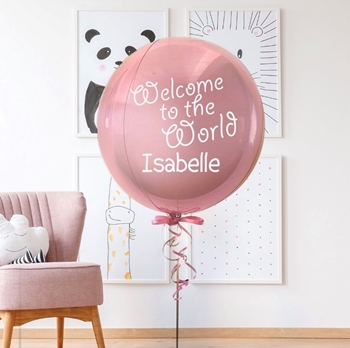 Picture of 1 - 3 LINES OF PERSONALIZED PRINT - ON FOIL ORB