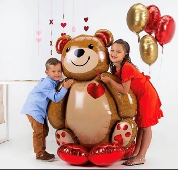 Picture of AIRLOONZ - CUDDLY TEDDY - AIR FILLED
