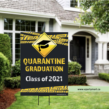 Picture of LAWN YARD SIGN - GRAD QUARANTINE