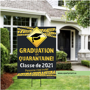 Picture of LAWN YARD SIGN - GRADUATION EN QUARANTAINE