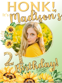 Picture of LAWN YARD SIGN - ANY BIRTHDAY PERSONALIZED