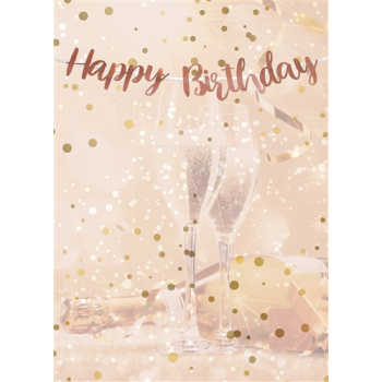 Picture of DECOR - HAPPY BIRTHDAY ROSE GOLD LETTER BANNER
