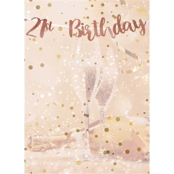 Picture of 21st BIRTHDAY ROSE GOLD LETTER BANNER