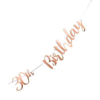 Picture of 30th BIRTHDAY ROSE GOLD LETTER BANNER