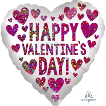 Picture of 18'' FOIL - HAPPY VALENTINE DAY SEQUINS
