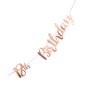 Picture of 18th BIRTHDAY ROSE GOLD LETTER BANNER