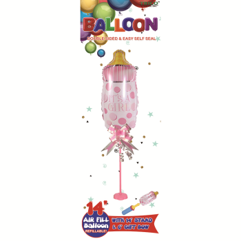 Image de MINI AIR FILLED CENTER PIECE - BOTTLE PINK