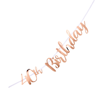Picture of 40th BIRTHDAY ROSE GOLD LETTER BANNER