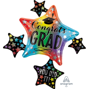 """Picture of 35"""" COLORFUL GRAD CLUSTER SUPERSHAPE"""