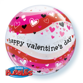 Picture of VALENTINE'S HEARTS WAVE BUBBLE BALLOON