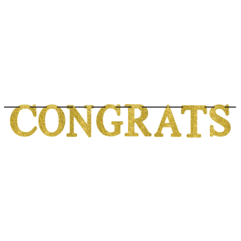 Picture of DECOR - CONGRATS GOLD LETTER BANNER