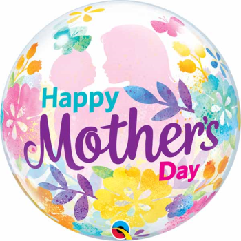 Image de MOTHER'S DAY SILHOUETTE BUBBLE BALLOON
