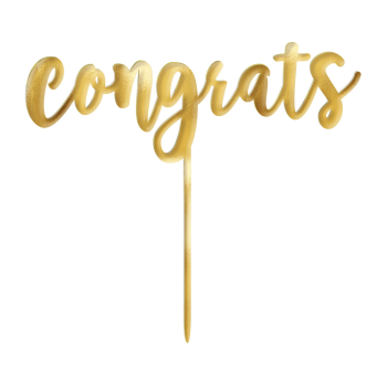 Picture of DECOR - GOLD CONGRATS CAKE TOPPER