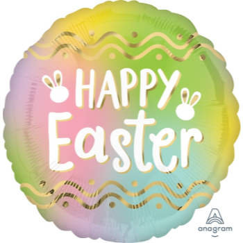 """Picture of 18"""" FOIL - OMBRE EASTER"""