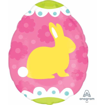 """Picture of 18"""" FOIL - YELLOW BUNNY - JUNIOR SHAPE"""