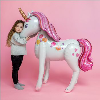 """Picture of 46"""" MAGICAL UNICORN AIRWALKER - AIR FILLED"""
