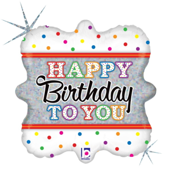 Picture of 18'' FOIL - HAPPY BIRTHDAY TO YOU