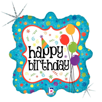 Picture of 18'' FOIL - HAPPY BIRTHDAY - BLUE