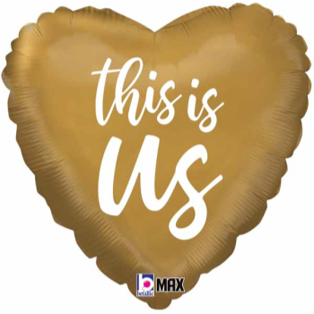 Picture of 18'' FOIL - THIS IS US GOLD HEART