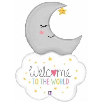 Image de 42'' WELCOME BABY MOON SUPERSHAPE