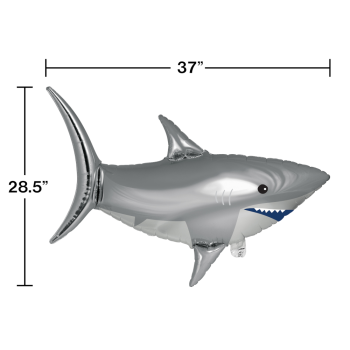 Picture of 37'' SHARK SUPERSHAPE - SILVER