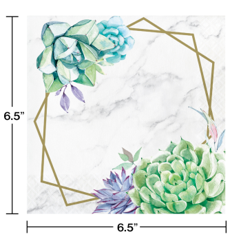 Picture of TABLEWARE - GEOMETRIC SUCCULENTS - LUNCHEON NAPKINS