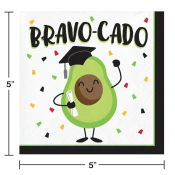 Image de TABLEWARE - BRAVO-CADO GRADUATION - BEVERAGE NAPKINS