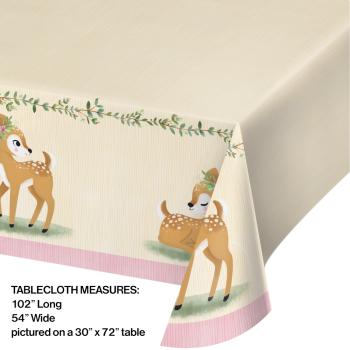 Image de LITTLE DEER BIRTHDAY - TABLE COVER