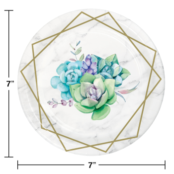 Picture of TABLEWARE - GEOMETRIC SUCCULENTS - 7'' PLATES
