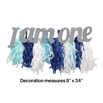 Image de DECOR - 1st BIRTHDAY HIGH CHAIR DECORATION - BLUE