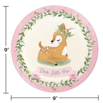 Image de LITTLE DEER BIRTHDAY - 9'' PLATES