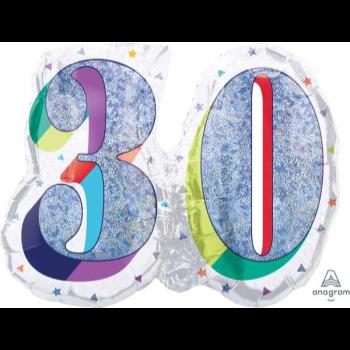 "Image de 26"" - 30th HERE'S TO U BIRTHDAY SUPERSHAPE"